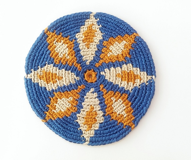 How to make a Round Shape with Tapestry Crochet. • Atelier Sopra