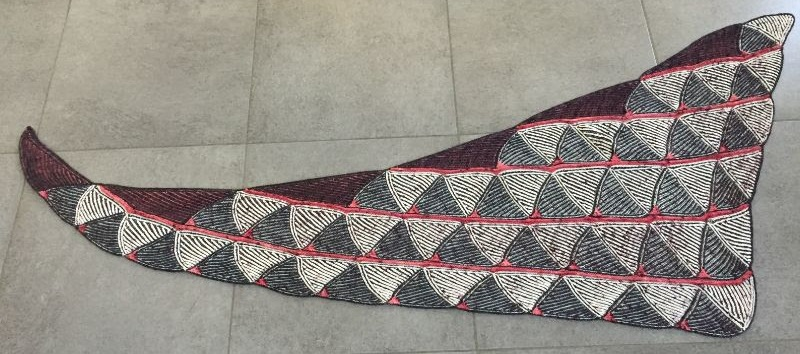 brioche breien shawl all triangled up